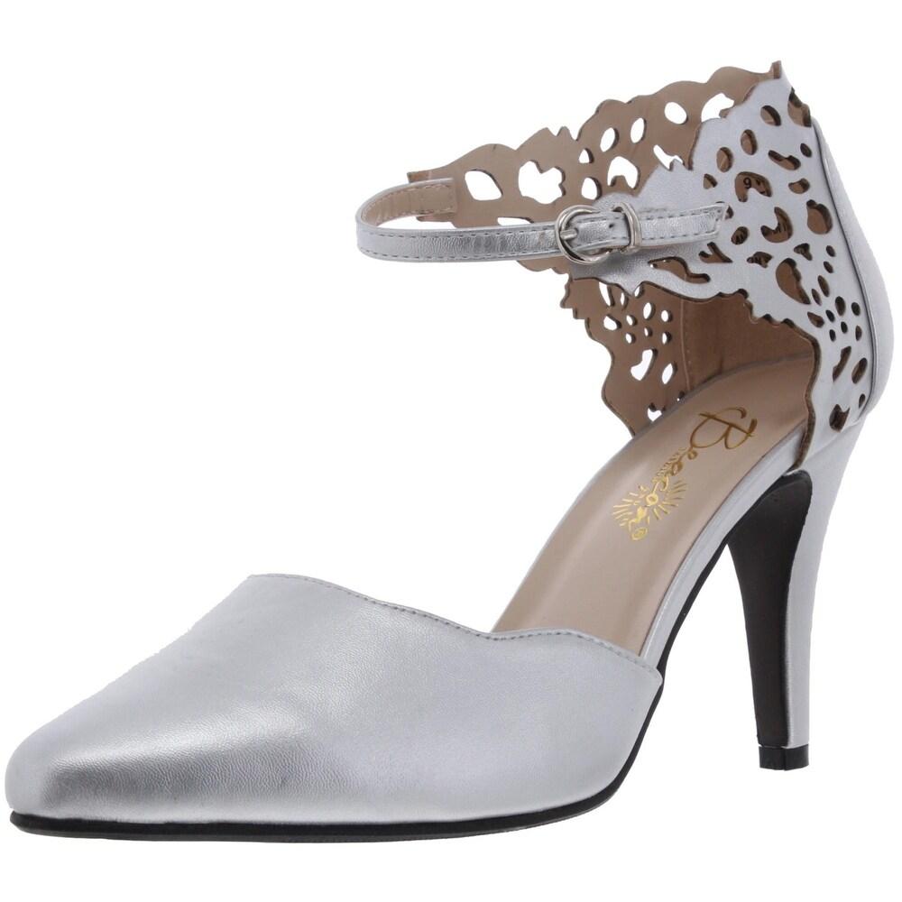 Buy Silver, Wide Women's Heels Online