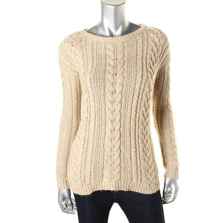 Denim & Supply Ralph Lauren Womens Cable Knit Heathered Pullover Sweater - XS