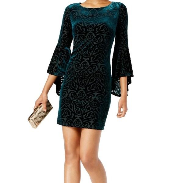 35b292de34c1 Shop Jessica Howard Green Women's Size 8 Velvet Printed Sheath Dress - On  Sale - Free Shipping On Orders Over $45 - Overstock - 27166972