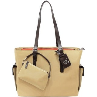 WIB LIB14T WIB Liberator Carrying Case (Tote) for 14.1 Notebook - Tan - MicroFiber, Faux Leather Trim - Handle