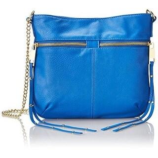 T-Shirt & Jeans Womens Faux Leather Double Zipper Crossbody Handbag - Medium
