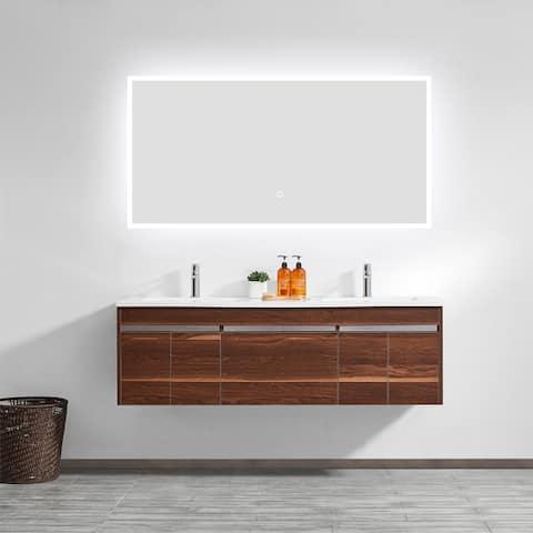 48'' Rectangle Illuminated Bathroom/Vanity Wall Mirror - Glass