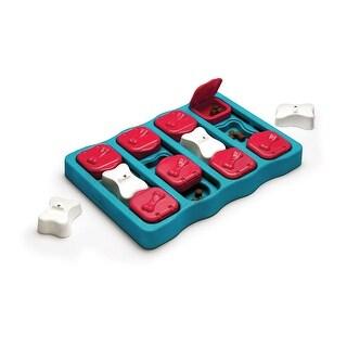 """Outward Hound Nina Ottosson Dog Brick Puzzle Game Large Blue 12.75"""" x 9"""" x 2"""""""