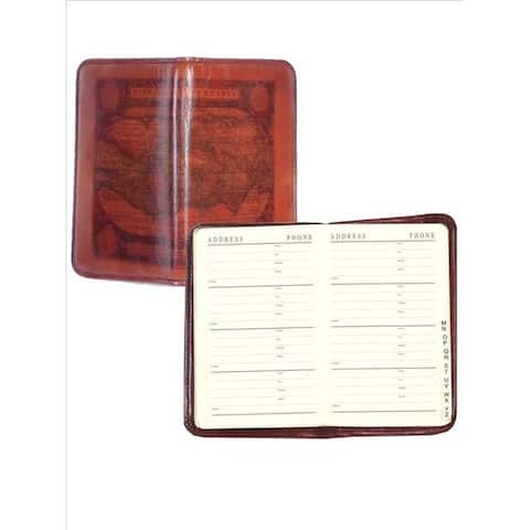 Scully Western Address Book Old Atlas Pony Leather 3 x 4.75 - Cognac - 3 x 4.75