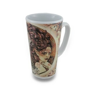 Linda Ravenscroft Grey Lady Design Tall Ceramic Fairy Mug