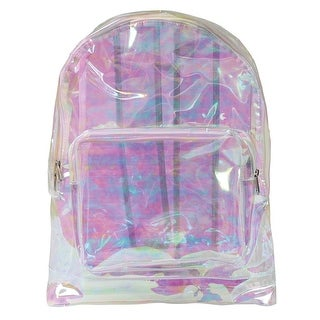 Women's Transparent Backpack - Clear Plastic Bag for Security at Stadiums, Airports, Events