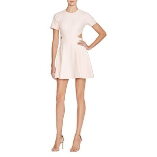 Elizabeth and James Womens Leonie Cocktail Dress Cut-Out Short Sleeves