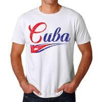 Cuba Flag Script Font T-shirt