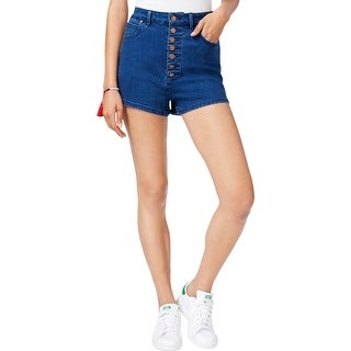 Rachel Rachel Roy Womens Casual Shorts High Rise Button Fly