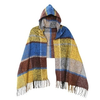Women's Campfire Plaid Hooded Wrap - Layering Poncho - One size
