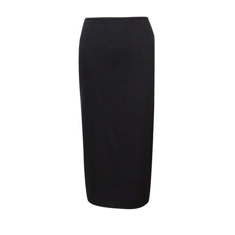 Tahari Women's Midi Straight Pencil Solid Skirt - Black - 2