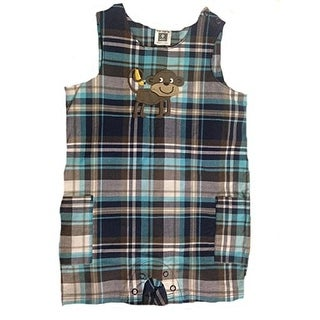 Carter's Baby Boys' Plaid One Piece Romper -Monkey - 9 Months - Blue