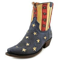 American Rebel Boot Company Old Glory Women Stonewashed Blue Western Boots