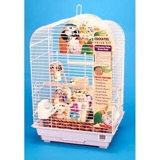 Cockatiel Scalloped Top Bird Cage Kit