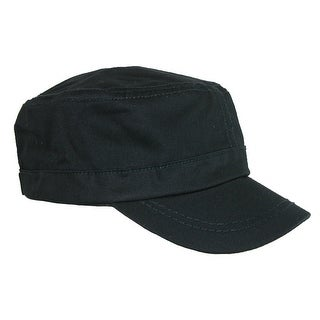 Something Special Men's Cotton Basic Solid Military Cadet Hat - One Size