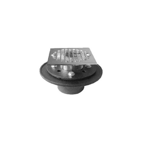 "PROFLO PF42947SQ Cast Iron Square Shower Drain (2"" IPS Connection) -"