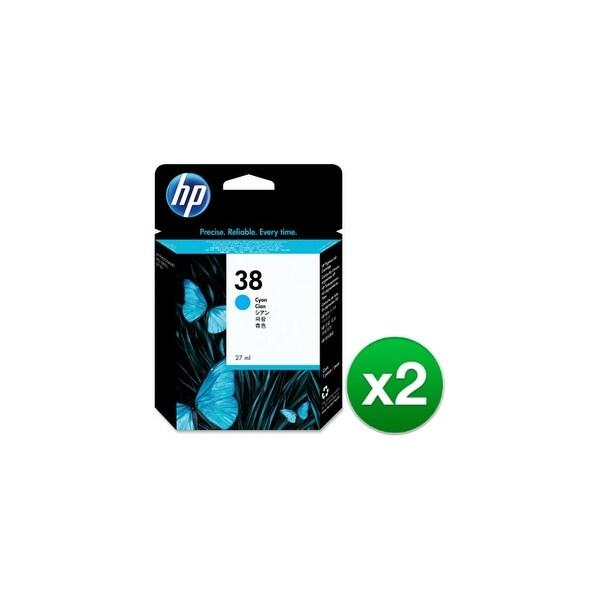 HP 38 Cyan Pigment Original Ink Cartridge (C9415A) (2-Pack)