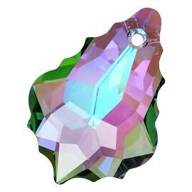 Swarovski Elements Crystal, 6090 Baroque Pendant 22x15mm, 1 Piece, Crystal Paradise Shine