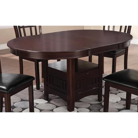 Copper Grove Canashito Espresso Wood Dining Table with Storage