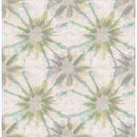 Brewster 1014-001859 Iris Turquoise Shibori Wallpaper - iris turquoise shibori