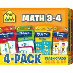 Math 3-4 - Flash Cards 4-Pack