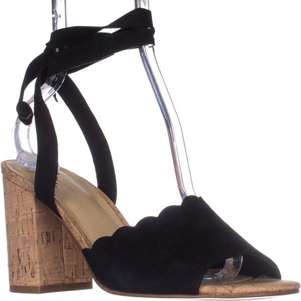 Marc Fisher Piya2 Tie Up Sandals, Black Suede - 9 us