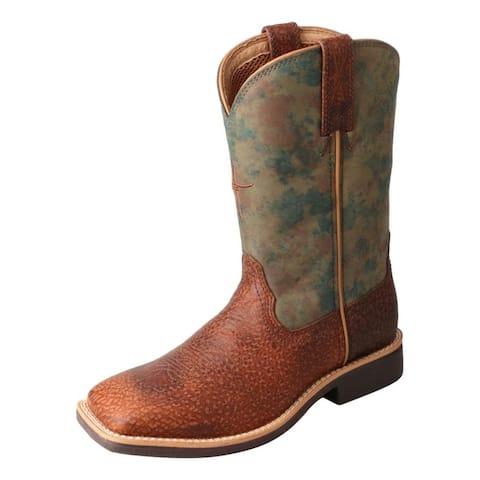 Twisted X Western Boots Kids Square Toe Work Camo Peanut
