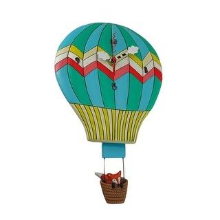Allen Designs Fox Aloft Hot Air Balloon Pendulum Wall Clock