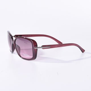 Calvin Klein Women'S Cwr673S Rectangular Sunglasses,Berry,16 Mm - Purple