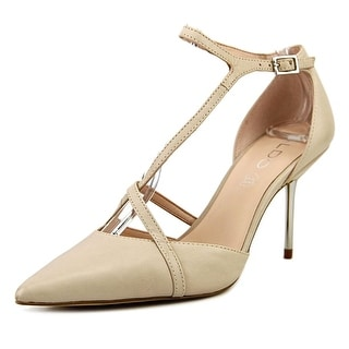Aldo Polyakov Women  Pointed Toe Leather Nude Heels