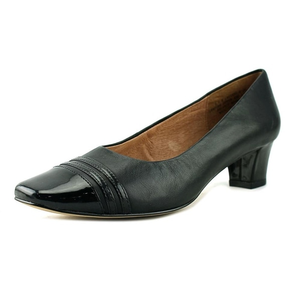 Auditions Classy Square Toe Patent Leather Heels