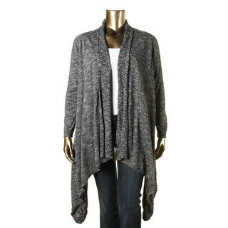 Lucky Brand Womens Plus Marled Long Sleeve Cardigan Sweater - 1X