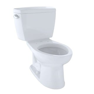 Toto CST744S Drake 1.6 GPF Two Piece Elongated Toilet with G-Max Flush System - Less Seat
