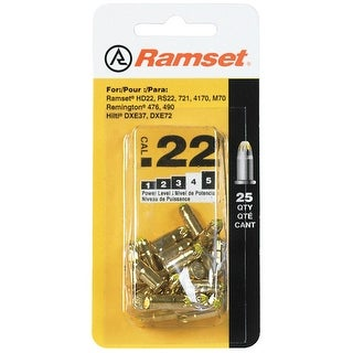 Ramset 50077 Power Load Heavy Duty, .22 Caliber, Yellow