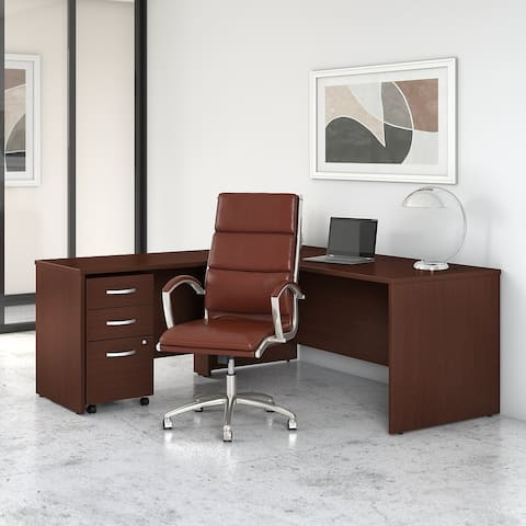 Studio C 72W L Shaped Desk and Chair Set by Bush Business Furniture