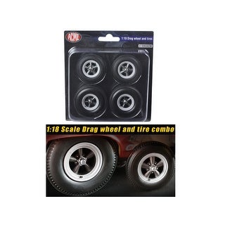 Drag Wheels and Tires Set of 4 1/18 by ACME
