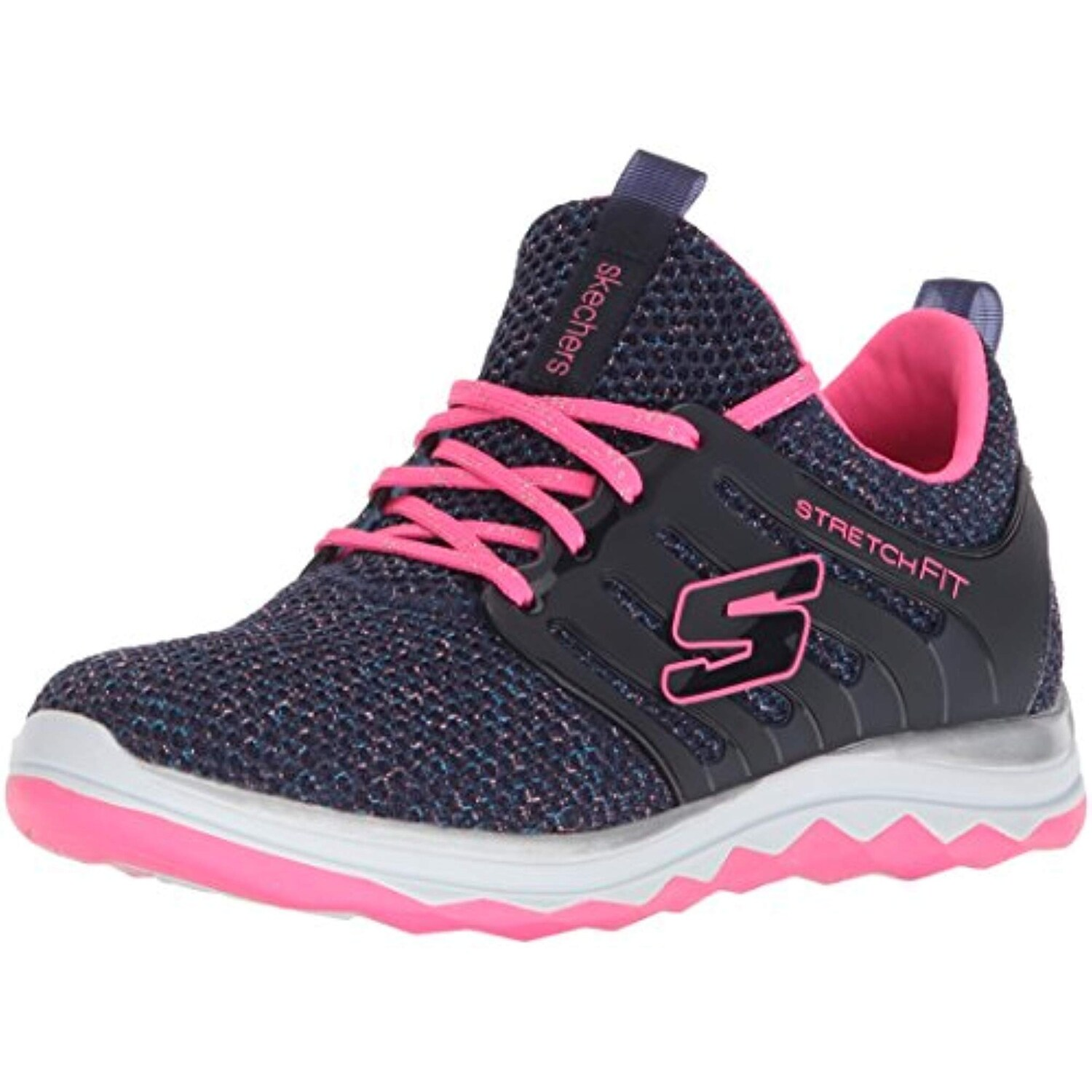 Skechers Kids Girls' Diamond Runner Sparkle Sprint Sneaker, LTPK, 4.5 Medium US Big Kid
