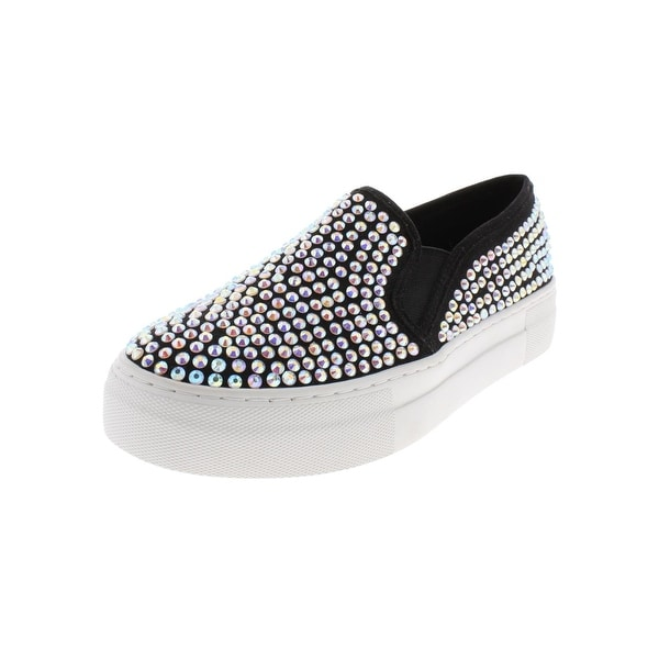 94ed12e6cf Shop Steve Madden Womens Glisten Fashion Sneakers Faux Suede Loafer ...