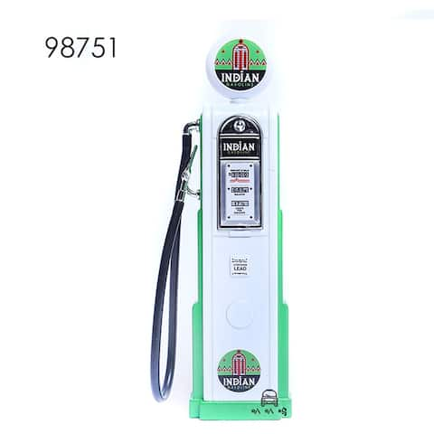 Road Signature Vintage Gas Pump Gasoline Round - White