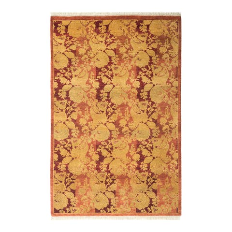 """Mogul, One-of-a-Kind Hand-Knotted Area Rug - Pink, 2' 9"""" x 4' 2"""" - 2' 9"""" x 4' 2"""""""