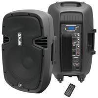 "Pyle Pro powered 15"" speaker with mp3 bluetooth recording function"