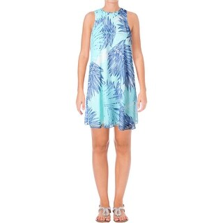 Calvin Klein Womens Casual Dress Tropic Print Sleeveless