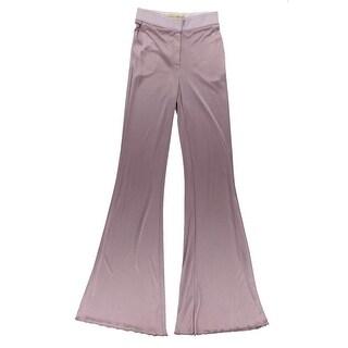 Catherine Malandrino Womens Silk Blend Wide Leg Casual Pants - 4