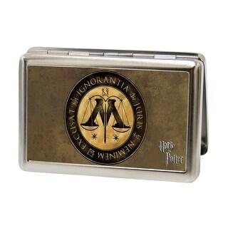 Harry Potter Wizengamot Logo Ignorantia Juris Neminem Excusat Fcg Browns Business Card Holder