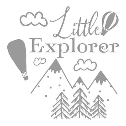 Little Explorer Wall Decal, Nursery Decal, Woodland Nursery Decor