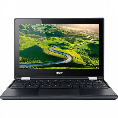 "Acer - C738T-C44Z 11.6"" Chromebook Touchscreen - 360 hinge - 4GB RAM 16GB Laptop In-plane Switching (IPS) Technology"