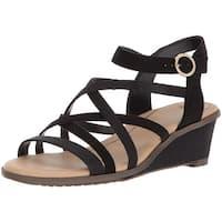 Dr. Scholl's Womens Gemini Open Toe Casual Platform Sandals