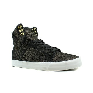 Supra Womens Skytop Black Fashion Shoes Size 10