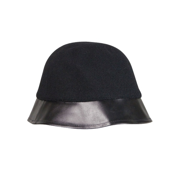 3c64b1e6fdb August Accessories Women s Faux Leather Brim Cloche Hat - os - Free  Shipping On Orders Over  45 - Overstock - 21332828