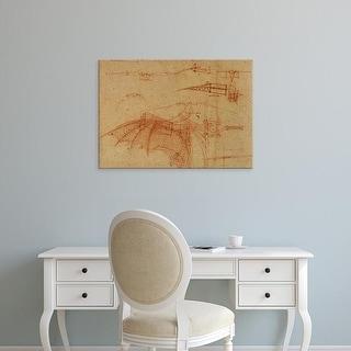 Easy Art Prints Leonardo da Vinci's 'Design for a Flying Machine' Premium Canvas Art
